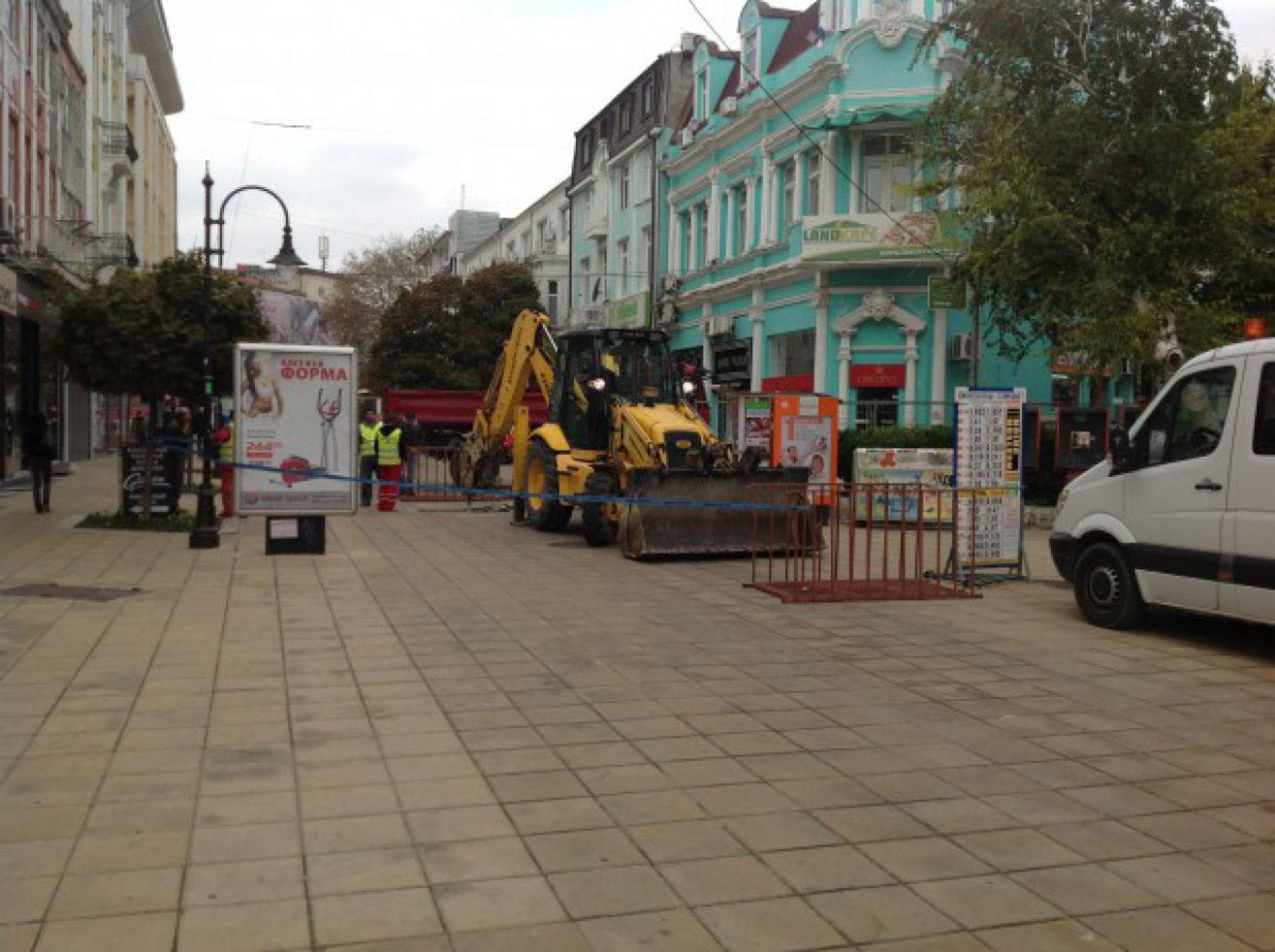 Начинается ремонт пешеходных зон в Варне