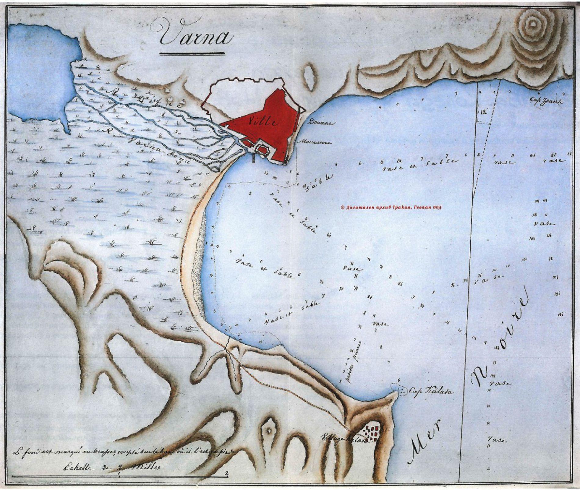 План залива Варны 1830 года