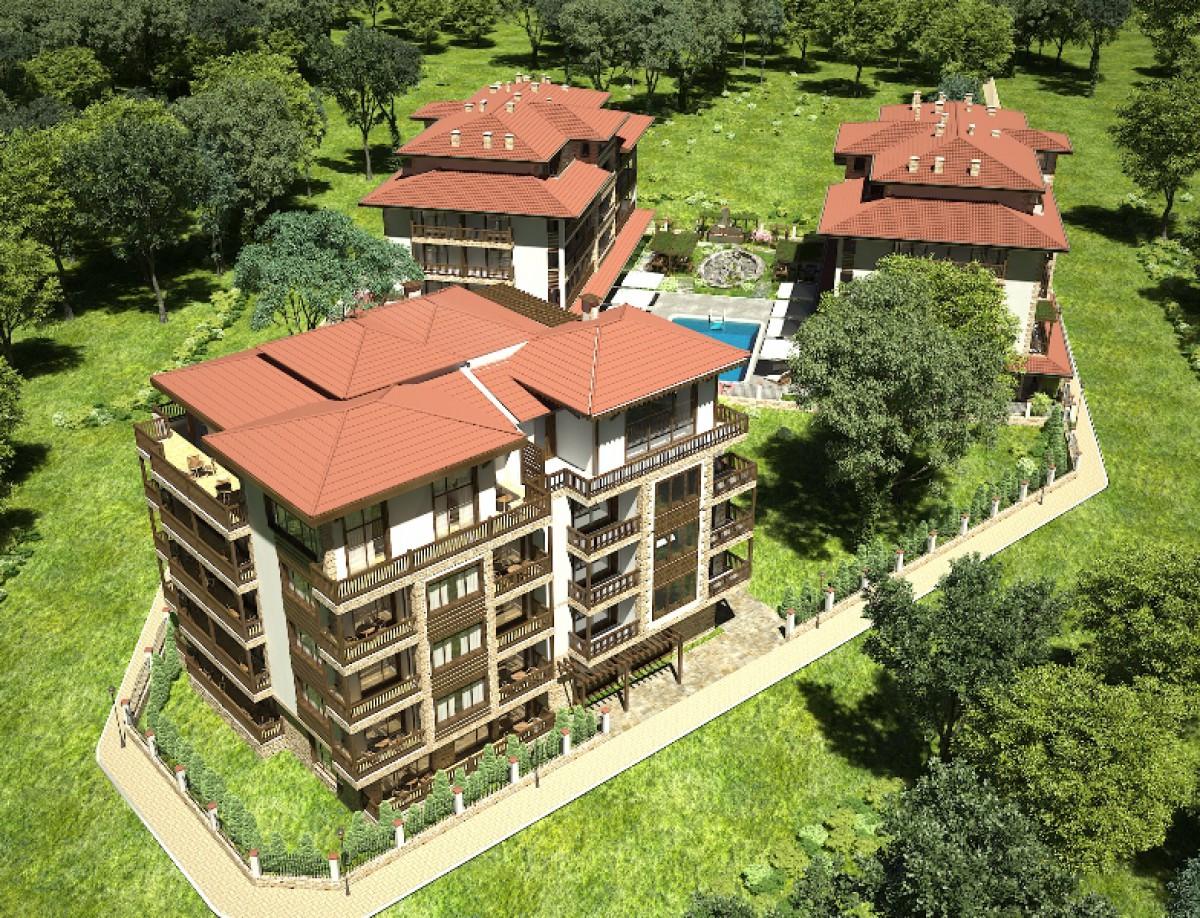 Квартиры в комплексе Грин Парадайс 3 в Приморско Болгария