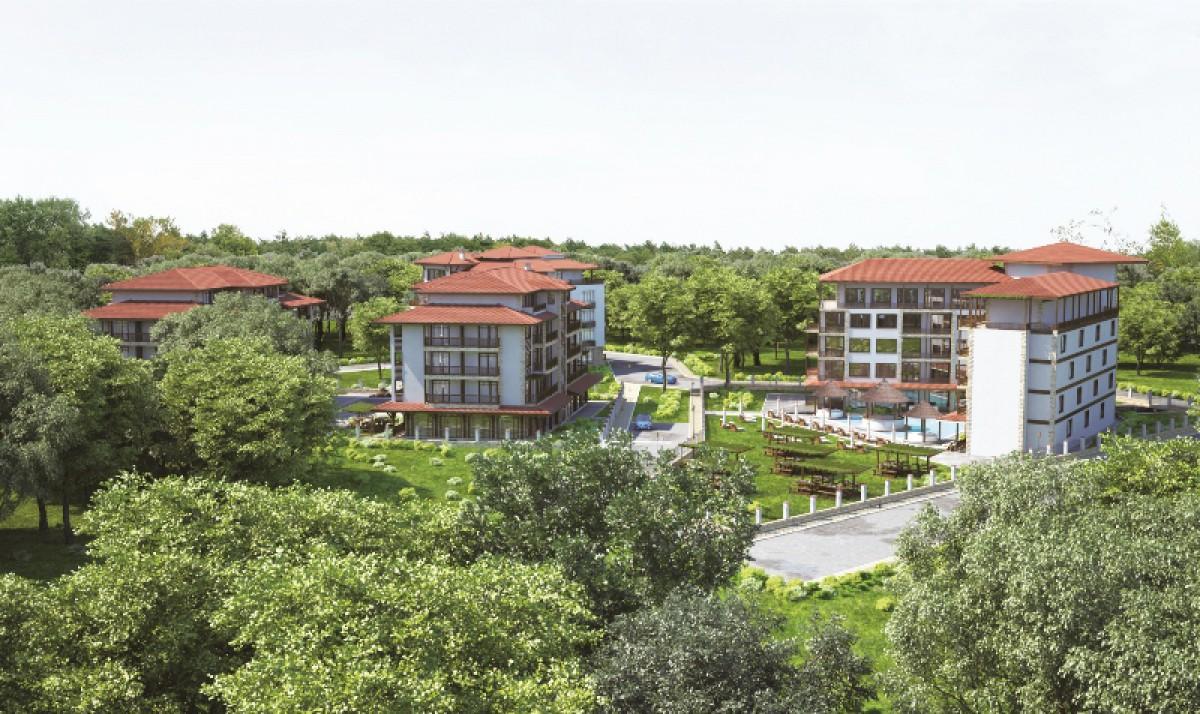 Недвижимость в Приморско в Болгарии в компхлексе Грин Парадайс 4