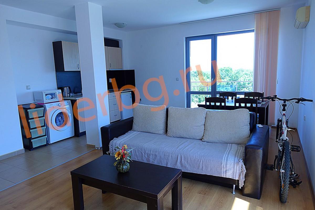 Двухкомнатная квартира с видом на море в комплексе Какао Резиденс на Солнечном берегу в Болгарии
