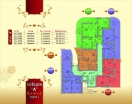 План 1 этажа секция А в комплексе Элитония Гарденс 3