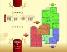 План 3 этажа Секция А в комплексе Элитония Гарденс 3