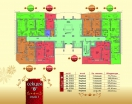 План 1 этажа Секция В в комплексе Элитония Гарденс 3