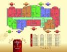 План 3 этажа Секция В  в комплексе Элитония Гарденс 3