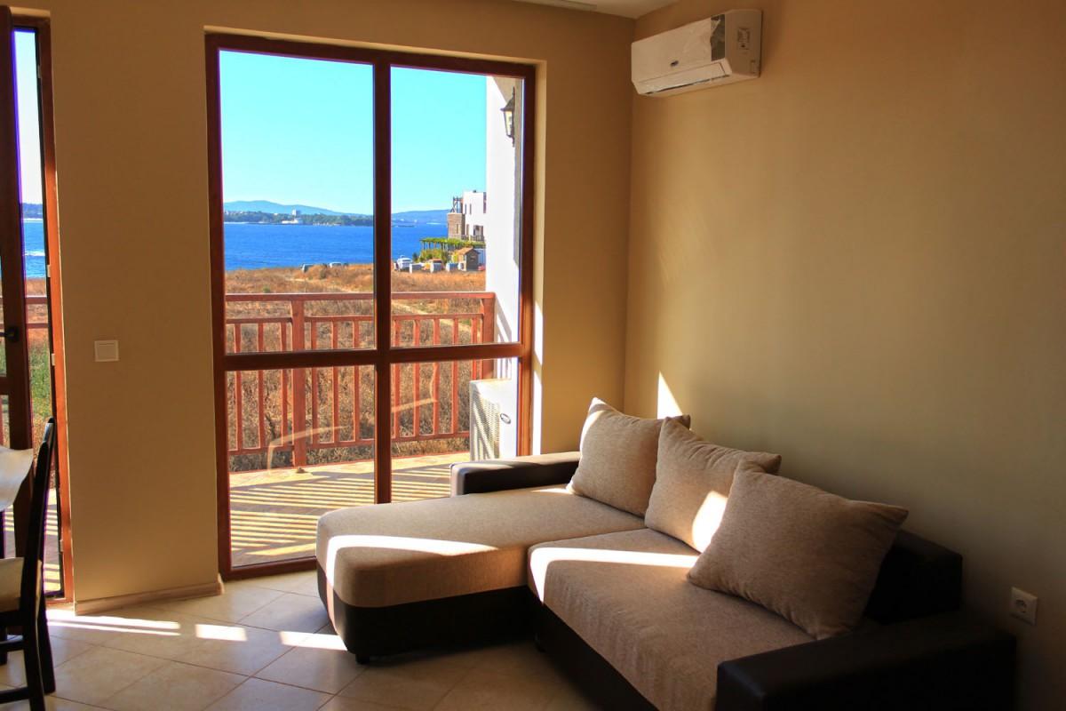 Гостиная комната в квартире комплекса Мохита Клуб в Лозенец в Болгарии