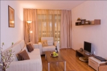 Гостиная комната квартиры в комплексе Бельведере Холидей Клуб в Банско Болгария