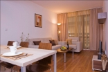 Меблировка в гостиной квартиры в комплексе Бельведере Холидей Клуб Болгария